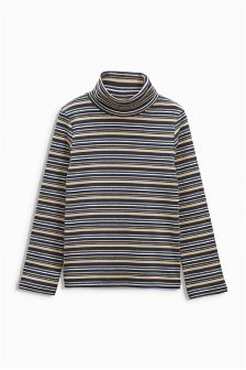 Long Sleeve Polo Neck Top (3mths-6yrs)