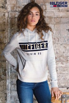 Hilfiger Denim Grey Graphic Hoody