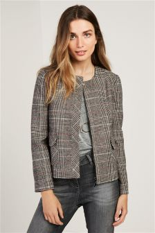 Brushed Check Jacket