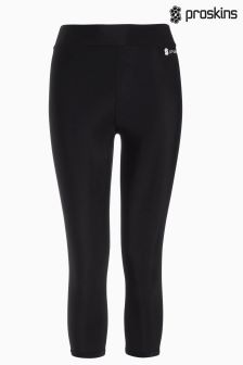 Black Proskins Gym Slim Capri Legging