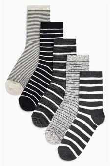 Stripe Ankle Socks Five Pack