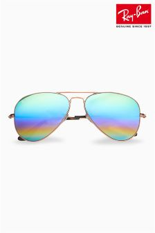 Ray-Ban® Gold Frame Aviator Sunglasses