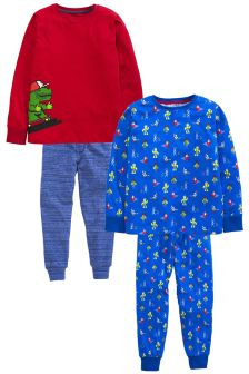 Little Gamer Pyjamas Two Pack (3-16yrs)