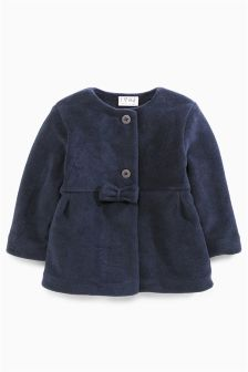 Fleece Bow Jacket (3mths-6yrs)
