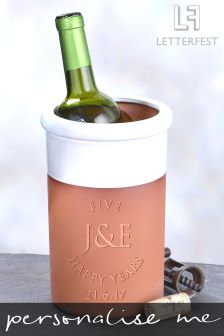 Personalised Special Anniversary Wine Cooler By Letterfest