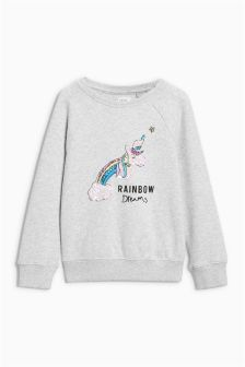 Unicorn Sequin Sweat Top (3-16yrs)
