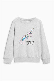 Unicorn Sequin Sweat Top (3-16yrs)
