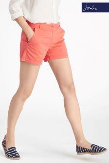 Joules Coral Pink Brooke Denim Short