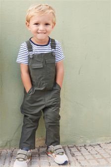 Dungarees With Stripe T-Shirt (3mths-6yrs)