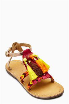 Beaded Tassel Sandals (Older Girls)