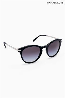 Michael Kors Black Silver Trim Arm Sunglasses