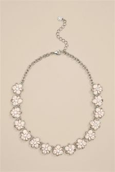 Enamel Flower Detail Necklace