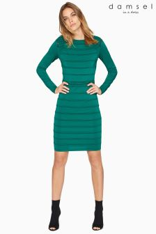 Damsel In A Dress Green Cold Shoulder Knit Dress