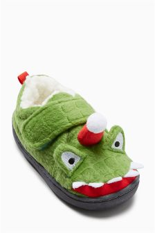 Santa Roars Slippers (Younger Boys)