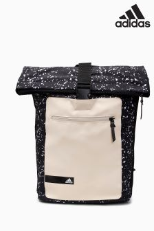 adidas Black Speckle Roll Backpack