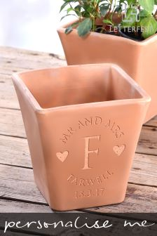 Personalised Mr And Mrs Plant Pot By Letterfest