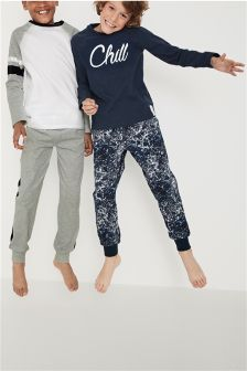 'Chill' Jogger Pyjamas Two Pack (3-16yrs)