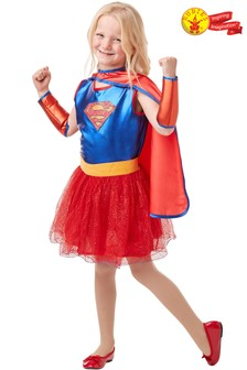 Rubies Blue Supergirl Fancy Dress Costume