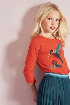Bird Embellished T-Shirt (3-16yrs)