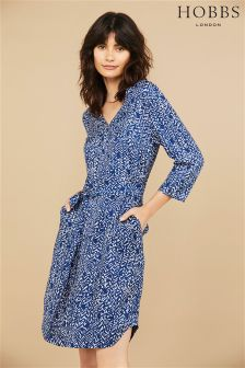 Hobbs Cobalt Ivory Henrietta Dress