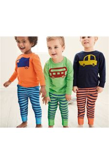 Bright Transport Snuggle Fit Pyjamas Three Pack (9mths-8yrs)
