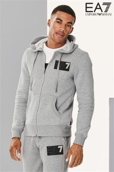 EA7 Emporio Armani Block Logo Zip Through Hoody