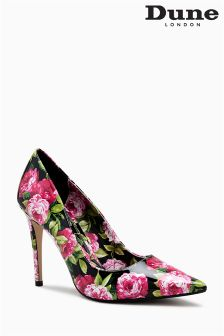 Dune Black Floral Bloom Pointed Court
