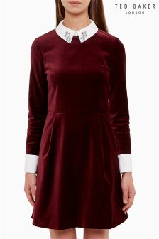 Ted Baker Red Velvet Dress