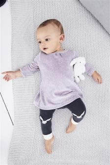 Dress And Footless Tights Set (0mths-2yrs)