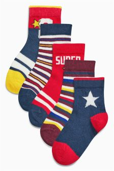 Star Socks Five Pack (Younger Boys)