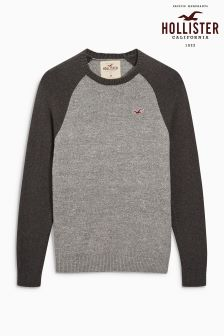 Hollister Grey Crew Neck Sweater