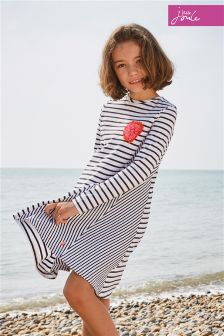 Joules White/Navy Stripe Loralie Dress