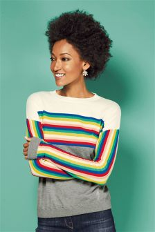 Stripe Colourblock Sweater