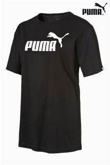 Puma® Black Essential Logo Tee