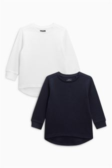 Eyelet Waffle Top Two Pack (3mths-6yrs)