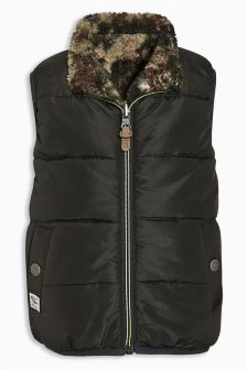 Reversible Borg Gilet (3mths-6yrs)