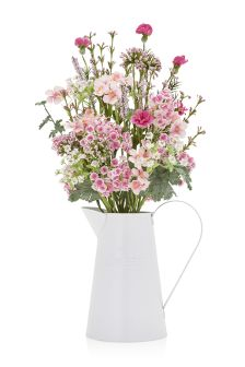 Large Pink Country Mix Jug