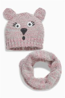 Character Hat And Snood Set (Older Girls)