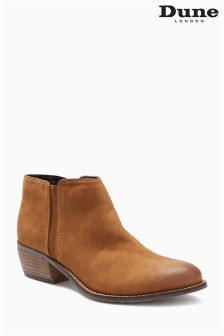 Dune Tan Suede Ankle Boot