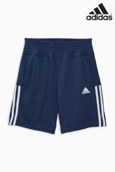 adidas Essential Black 3 Stripe Woven Short