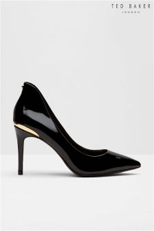 Ted Baker Black Patent Court Shoe