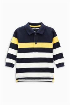 Stripe Long Sleeve Polo (3mths-6yrs)