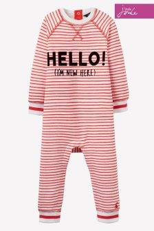 Joules Baby Red Stripe Ernie Babygrow