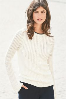 Flute Sleeve Cable Sweater