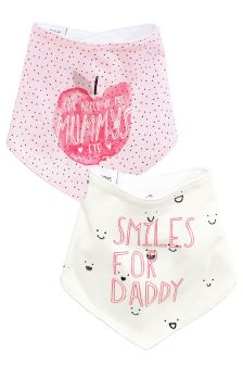 Mummy And Daddy Apple Dribble Bibs Two Pack