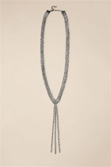 Sparkle Y Drop Necklace