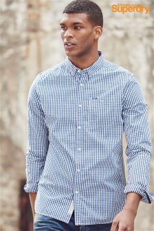 Superdry Navy Gingham Check Shirt