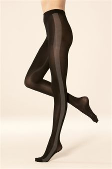 Side Stripe Opaque Tights