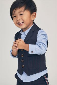 Stripe Waistcoat And Shirt Set (3mths-6yrs)