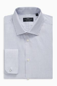 Signature Circle Pattern Slim Fit Shirt With Cufflinks